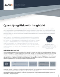 InsightVM Solutions Brief – Quantifying The Risk